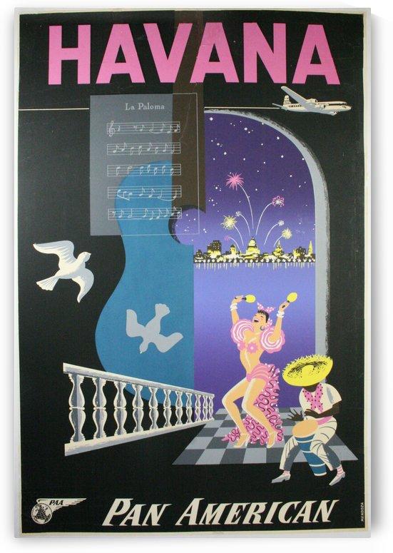 Havana Pan American Travel Poster by VINTAGE POSTER