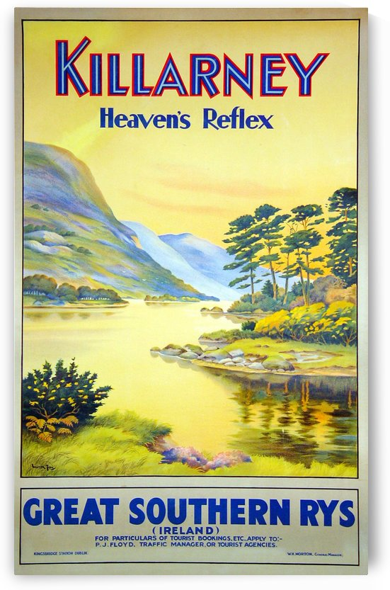 Killarney Heavens Reflex Great Southern Railways travel poster by VINTAGE POSTER