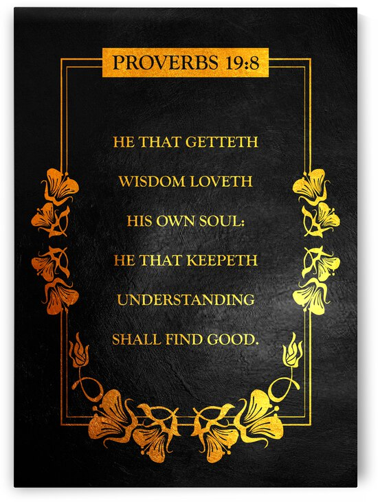 Proverbs 19:8 Bible Verse Wall Art by ABConcepts