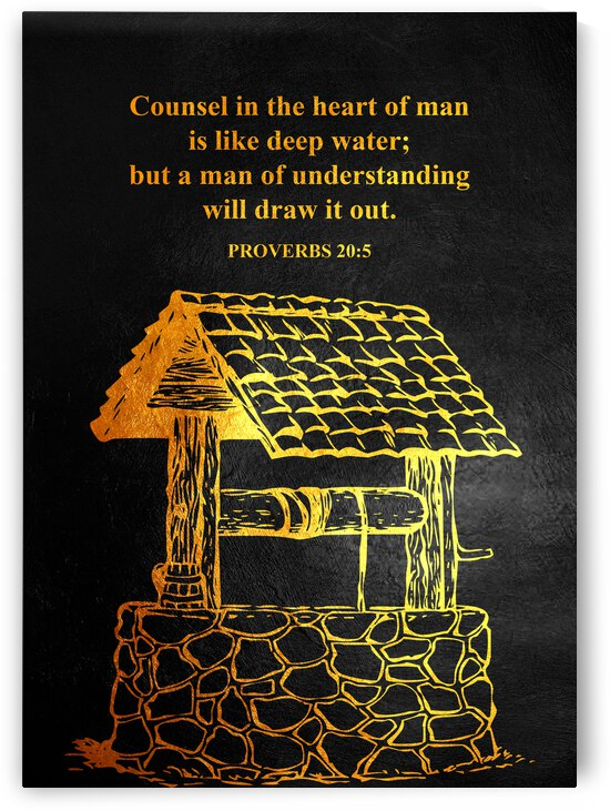 Proverbs 20:5 Bible Verse Wall Art by ABConcepts