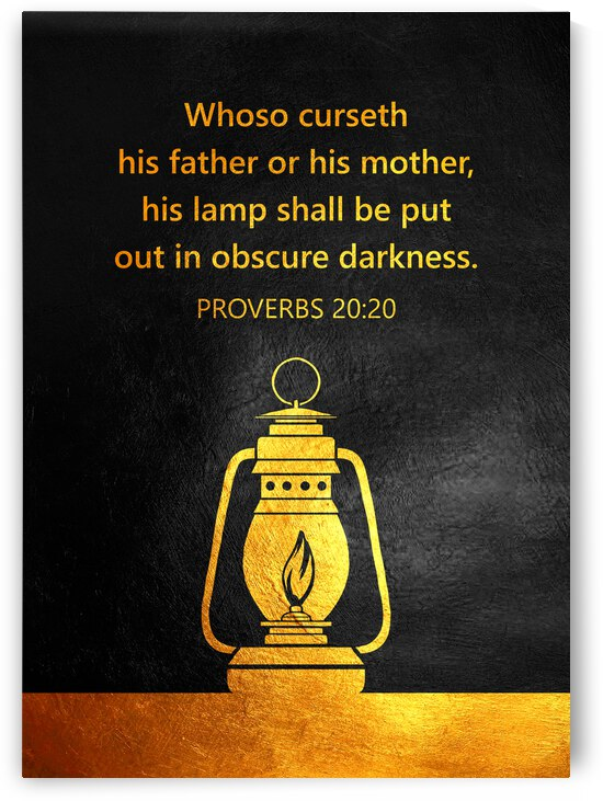 Proverbs 20:20 Bible Verse Wall Art by ABConcepts