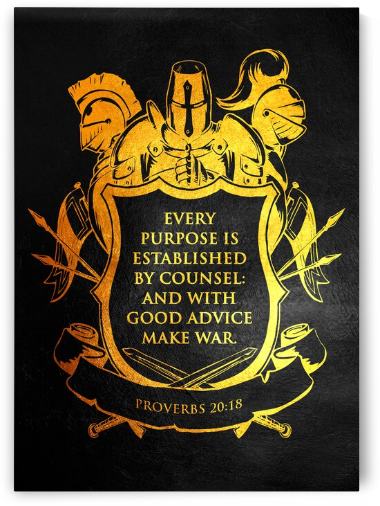 Proverbs 20:18 Bible Verse Wall Art by ABConcepts
