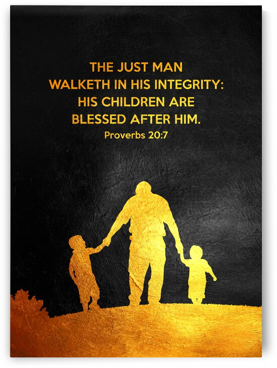 Proverbs 20:7 Bible Verse Wall Art by ABConcepts
