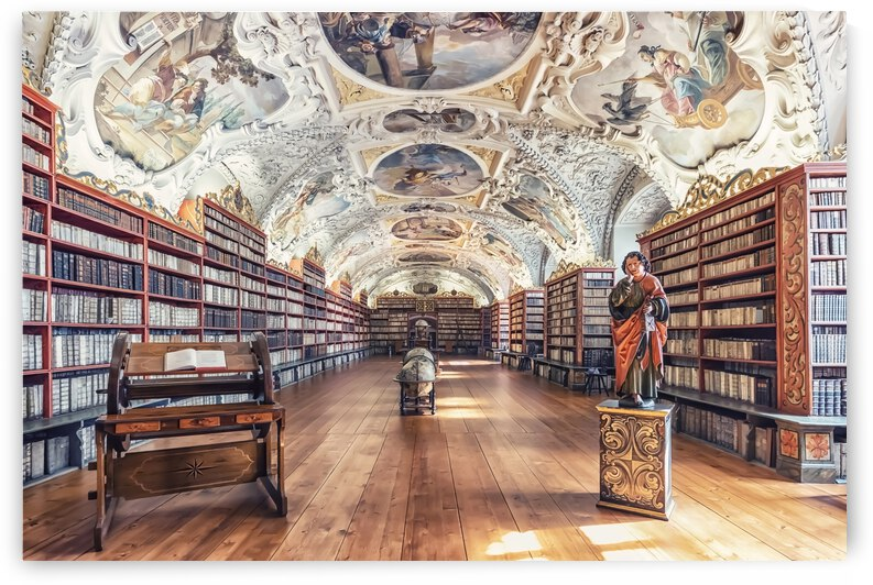 Library of Strahov Monastery by Manjik Pictures