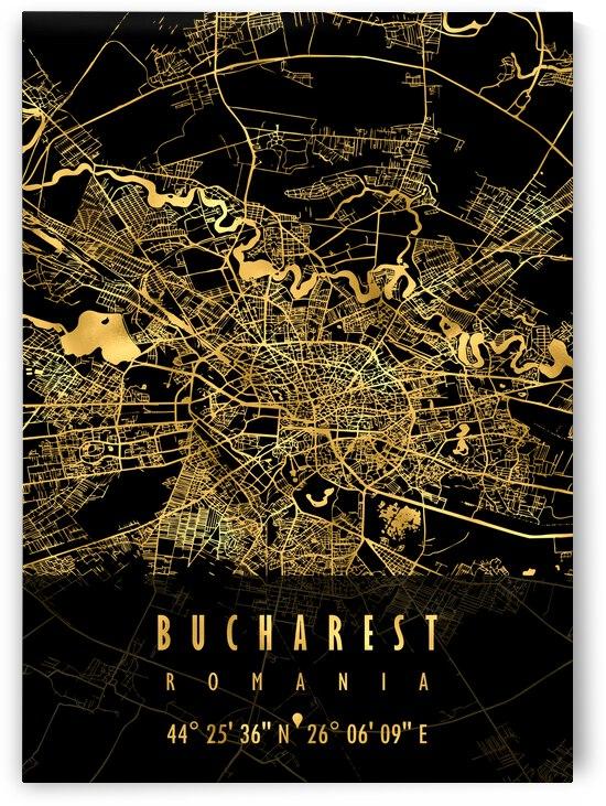 Bucharest Map Romania by Mapolis