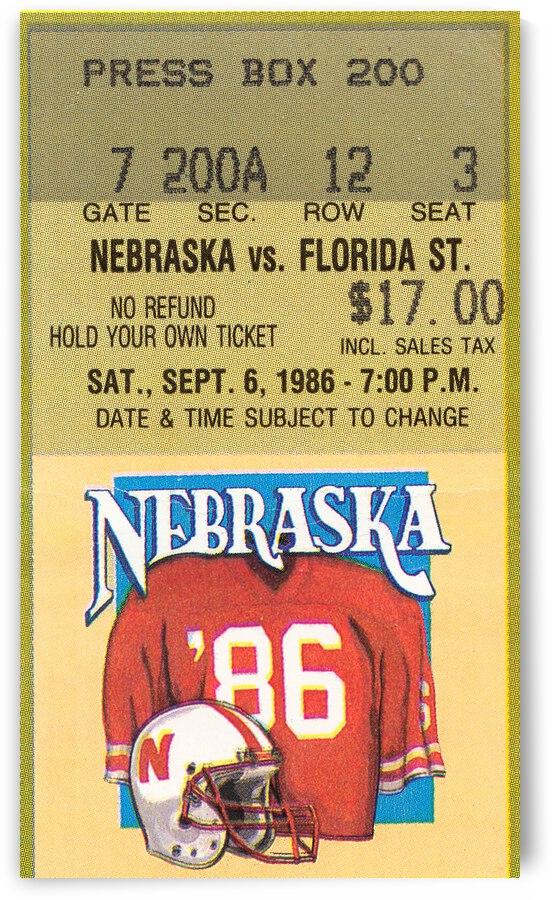1986 Florida State Seminoles vs. Nebraska Cornhuskers by Row One Brand