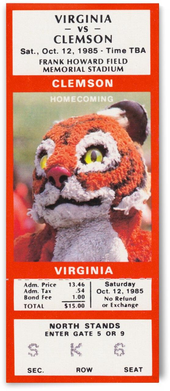 1985 Clemson Tigers vs. Virginia Cavaliers by Row One Brand