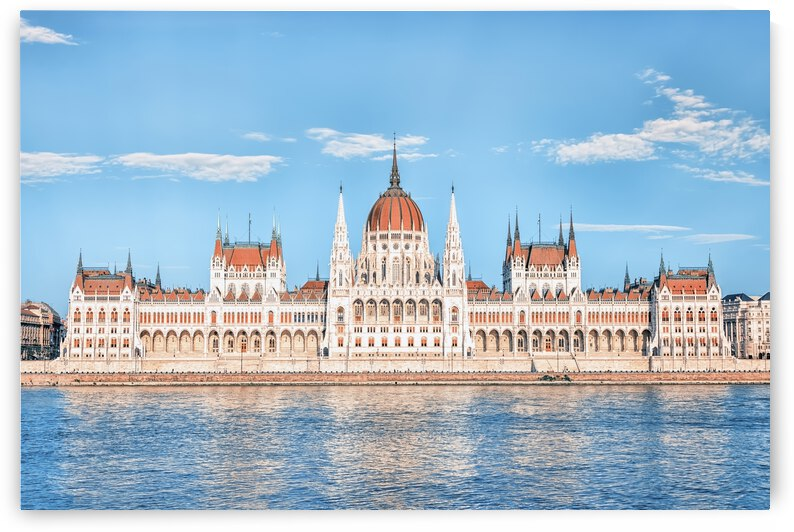 Hungarian Parliament Facade by Manjik Pictures