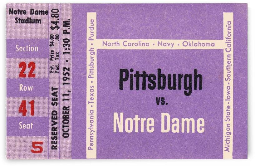 1952 Pitt vs. Notre Dame by Row One Brand