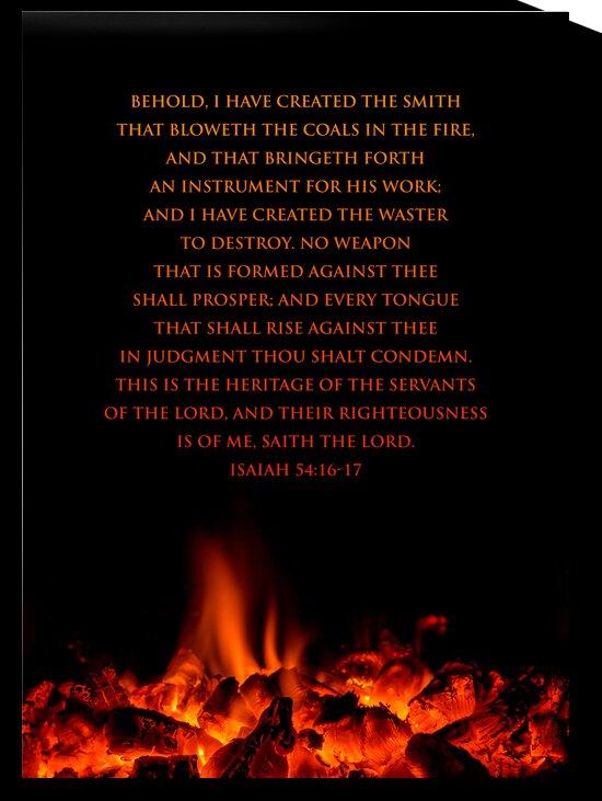 Isaiah 54:16-17 Bible Verse Wall Art by ABConcepts