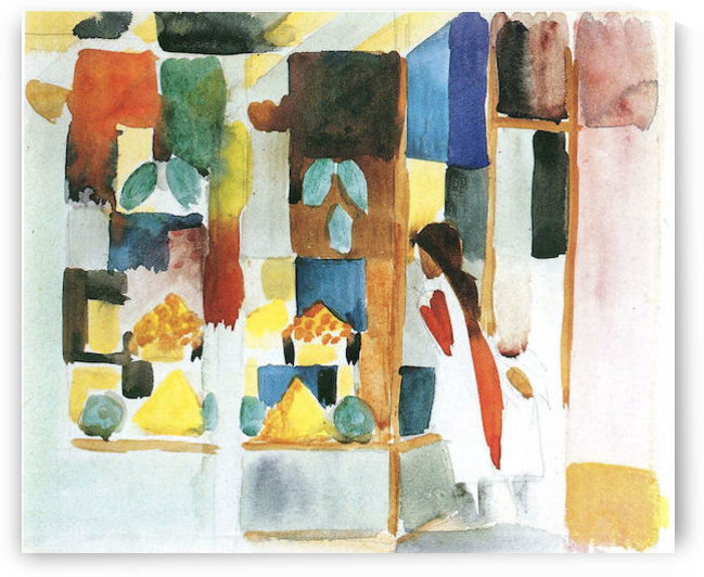 Children at the vegetable shop (I) by August Macke by August Macke