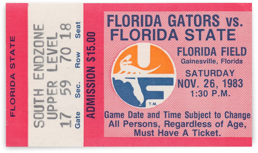 1983 Florida State vs. Florida by Row One Brand