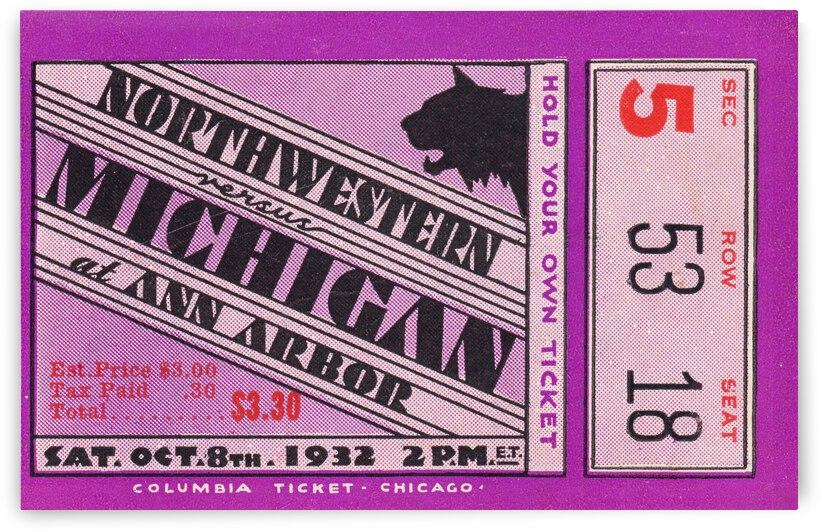 1932 Michigan vs. Northwestern by Row One Brand