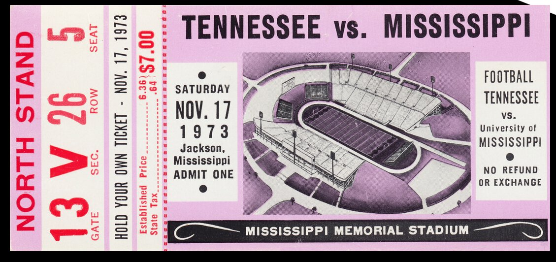 1973 Ole Miss Rebels vs. Tennessee Vols by Row One Brand