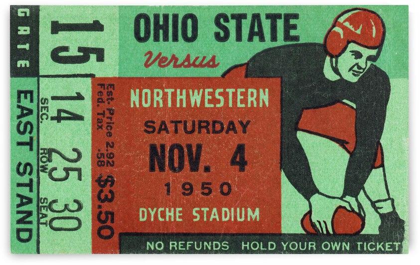 1950 Ohio State vs. Northwestern by Row One Brand