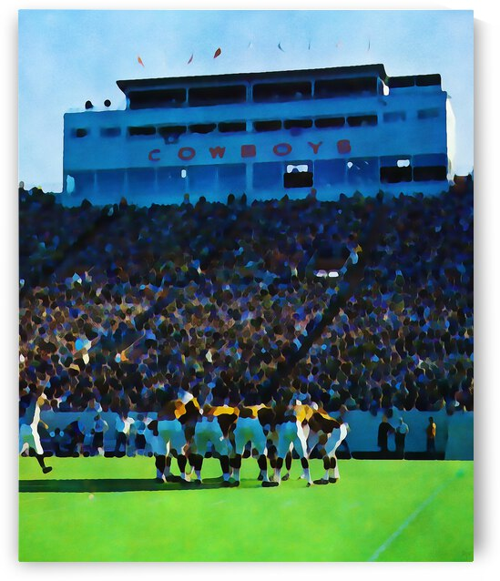 Retro Seventies Lewis Field in Stillwater Oklahoma by Row One Brand