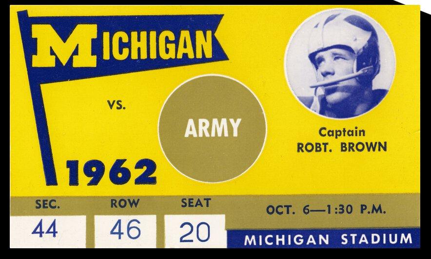 1962 Army vs. Michigan by Row One Brand
