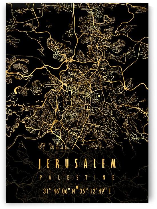 JERUSALEM MAP PALESTINE by Mapolis