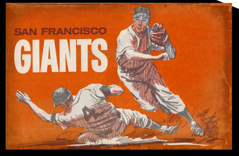 Vintage San Francisco Giants Baseball Art by Row One Brand