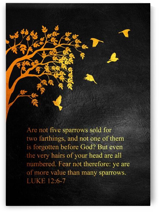 Luke 12:6-7 Bible Verse Wall Art by ABConcepts