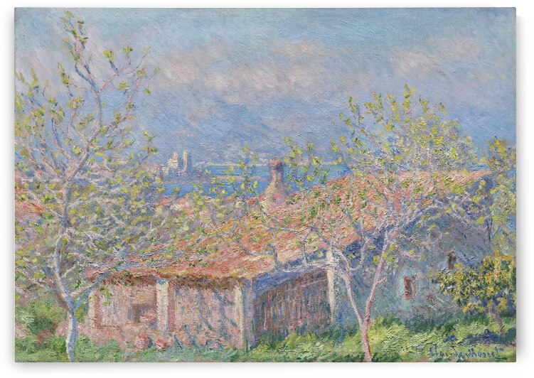 Gardeners House at Antibes 1888 Claude Monet by TOPARTGALLERY