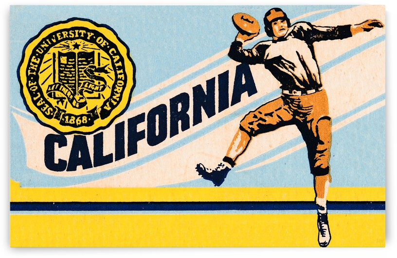 1948 California Bears Away Game Football Ticket Stub Remix by Row One Brand