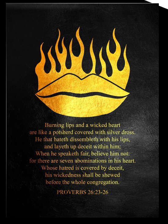 Proverbs 26:23-26 Bible Verse Wall Art by ABConcepts