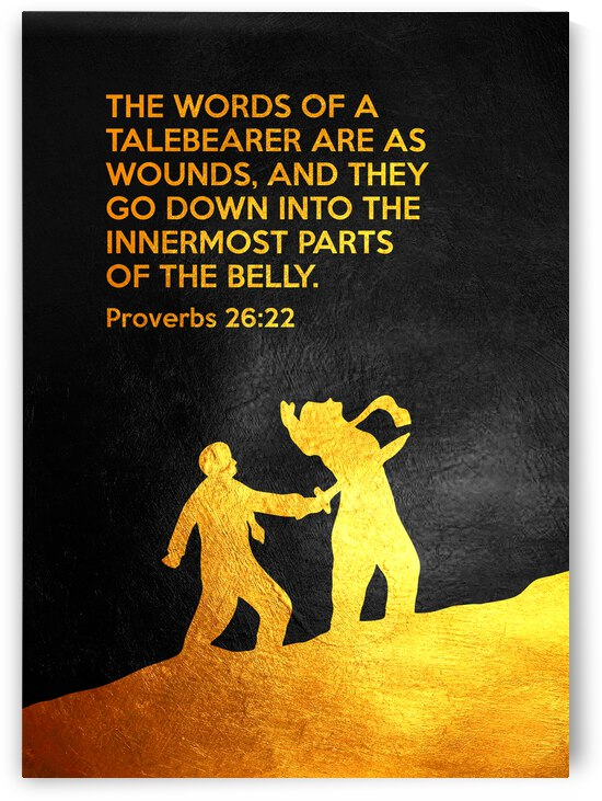 Proverbs 26:22 Bible Verse Wall Art by ABConcepts