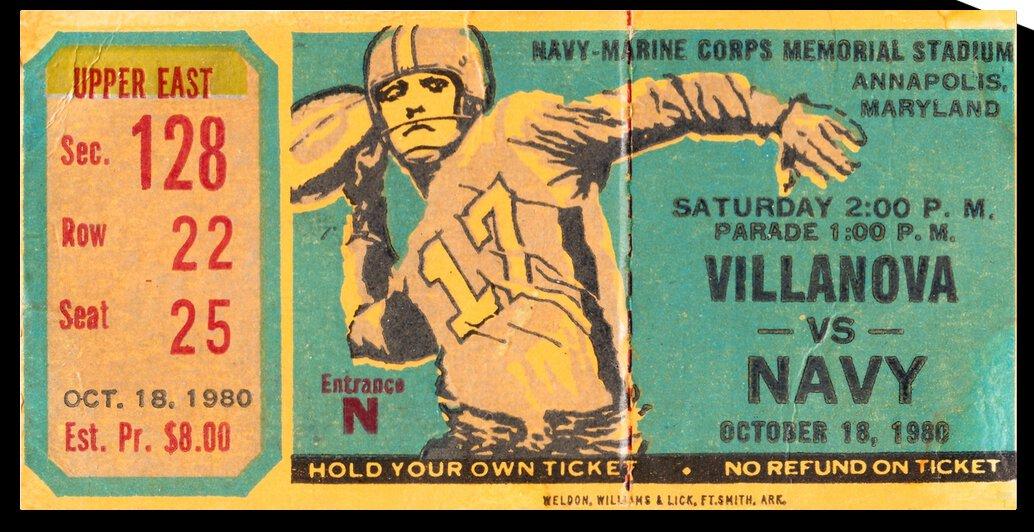 1980 Villanova vs. Navy by Row One Brand