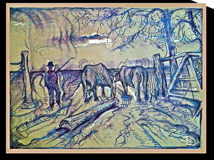 Free-Hand Log Team  by Lowell Phoenix Devin