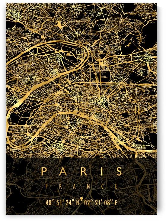 PARIS MAP FRANCE by Mapolis