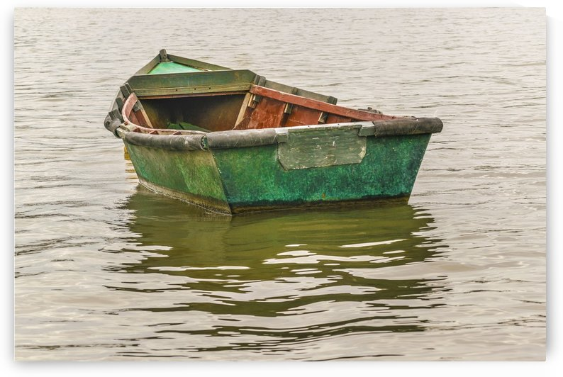Old Fishing Boat at Santa Lucia River in Montevideo by Daniel Ferreia Leites Ciccarino