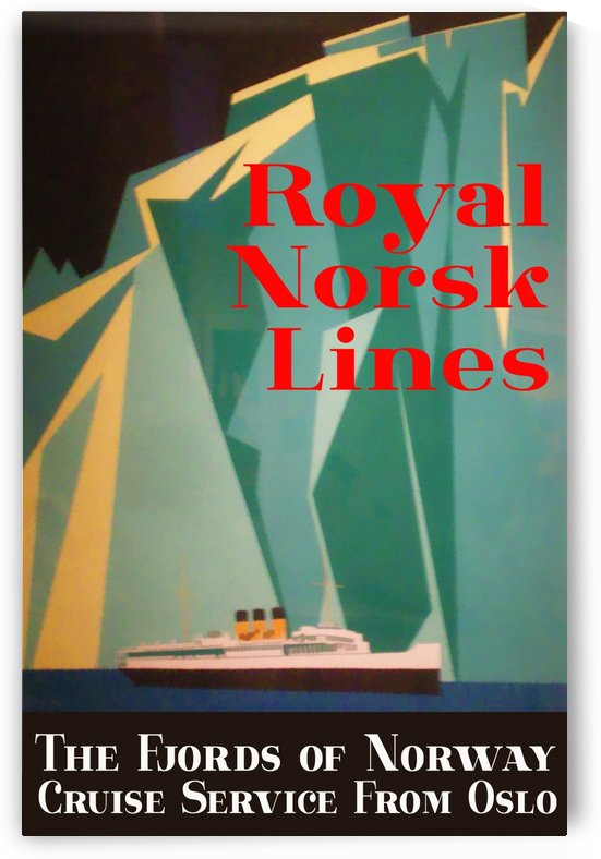 Vintage travel poster for Royal Norsk Lines by VINTAGE POSTER