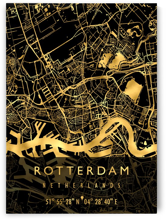 ROTTERDAM MAP NETHERLANDS by Mapolis