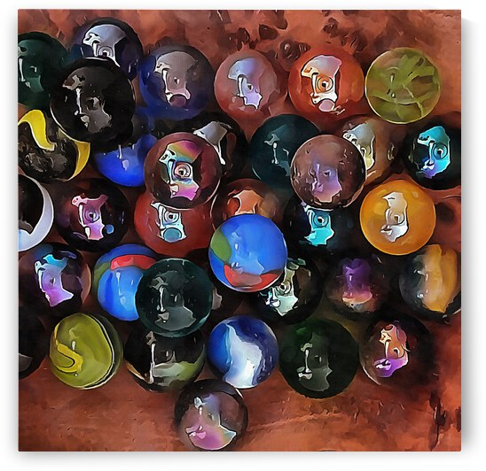 A Study In Glass Marbles by Dorothy Berry-Lound
