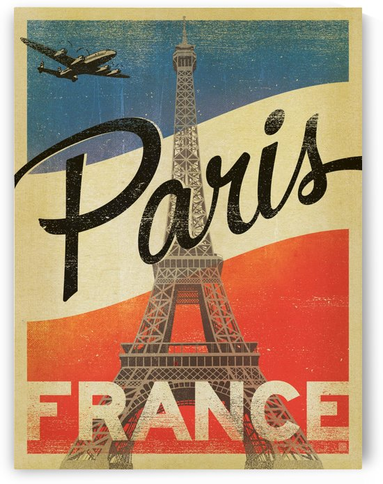 Paris France Vintage Poster by VINTAGE POSTER