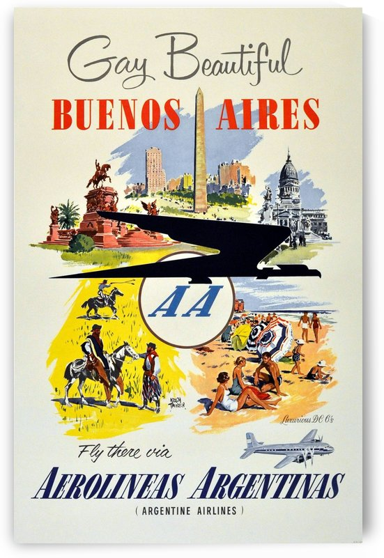 Adolph Treidler Original Vintage Travel Poster for Buenos Aires by VINTAGE POSTER