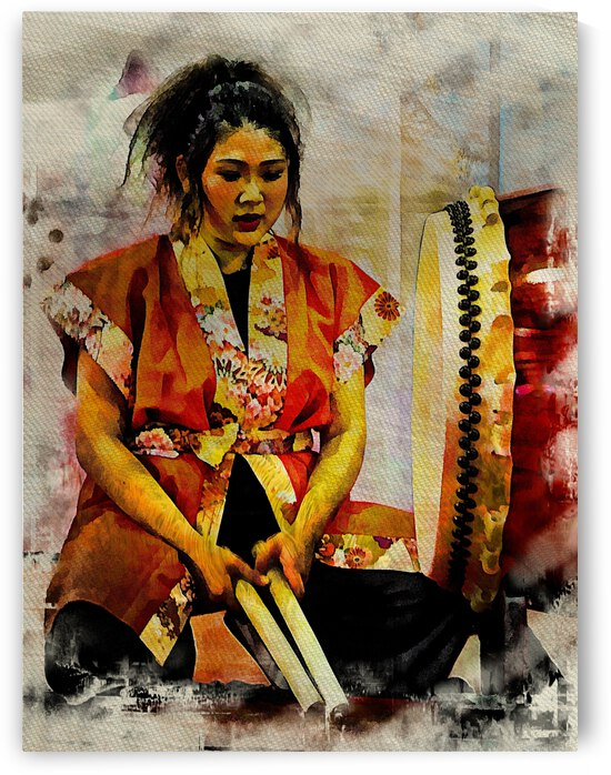 Female Japanese Drummer by Dorothy Berry-Lound
