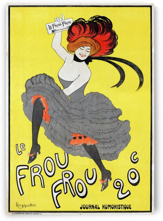 Cappiello---Frou-Frou by VINTAGE POSTER