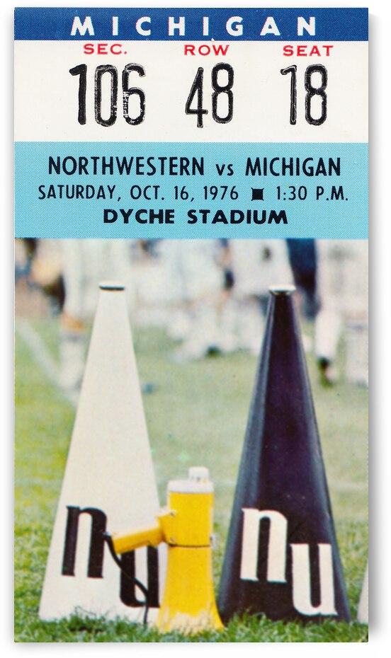 1976 Northwestern Wildcats vs. Michigan Wolverines by Row One Brand
