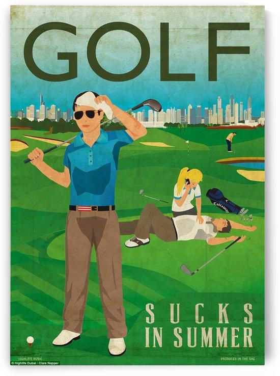 Golf sucks in summer by VINTAGE POSTER
