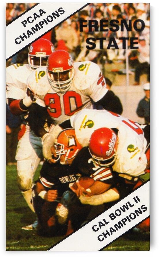 1983 Fresno State Bulldogs Retro Football Art by Row One Brand