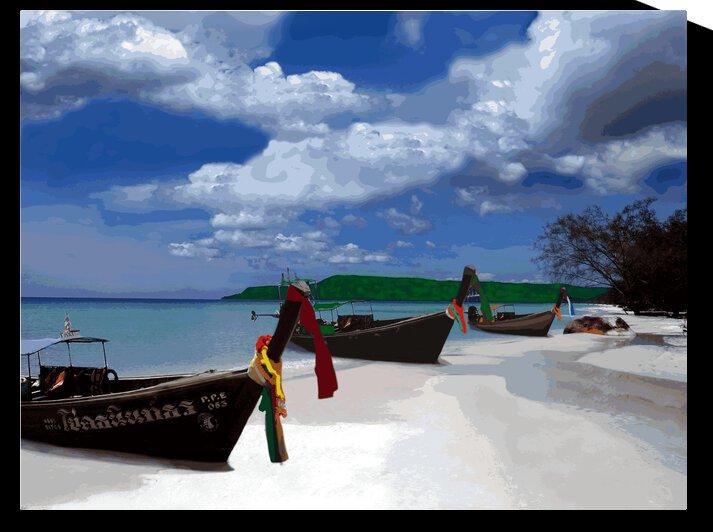Longboats Thailand by Rachael Beauchamp