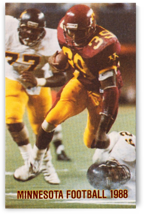 1988 Minnesota Gophers Football Poster by Row One Brand
