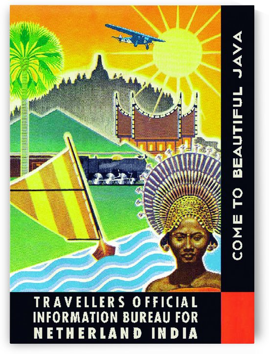 Come to Beautiful Java travel poster by VINTAGE POSTER