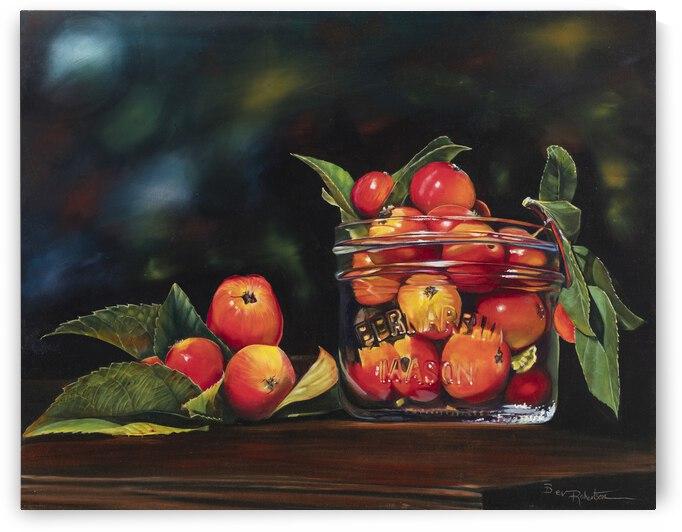 Apples in Jar 28x22 by Bev Robertson Art