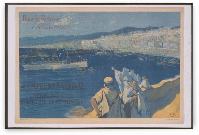 Vintage---Algeria-to-Tunisia by VINTAGE POSTER