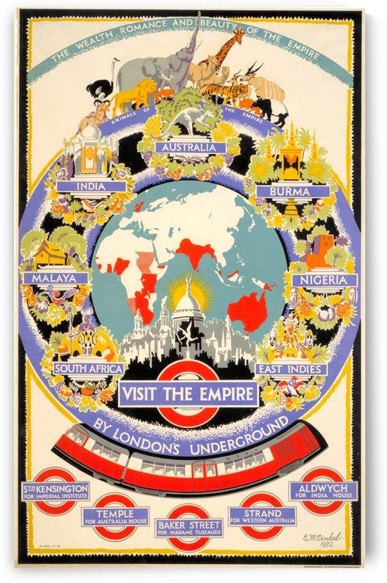 Vintage Poster of British Empire Transport by VINTAGE POSTER