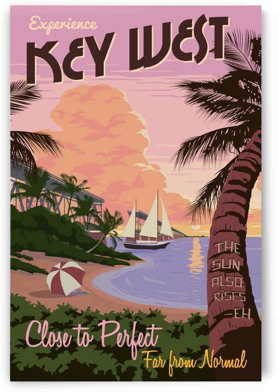 Experience Key West Close to Perfect travel poster by VINTAGE POSTER