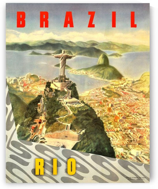 Original vintage travel poster for Brazil, Rio de Janeiro by VINTAGE POSTER